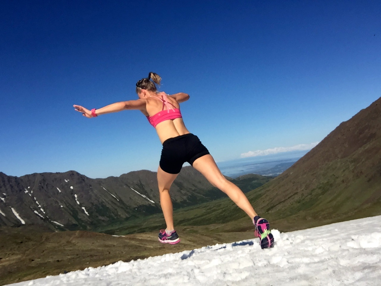 Running in the mountains, and still finding snow!