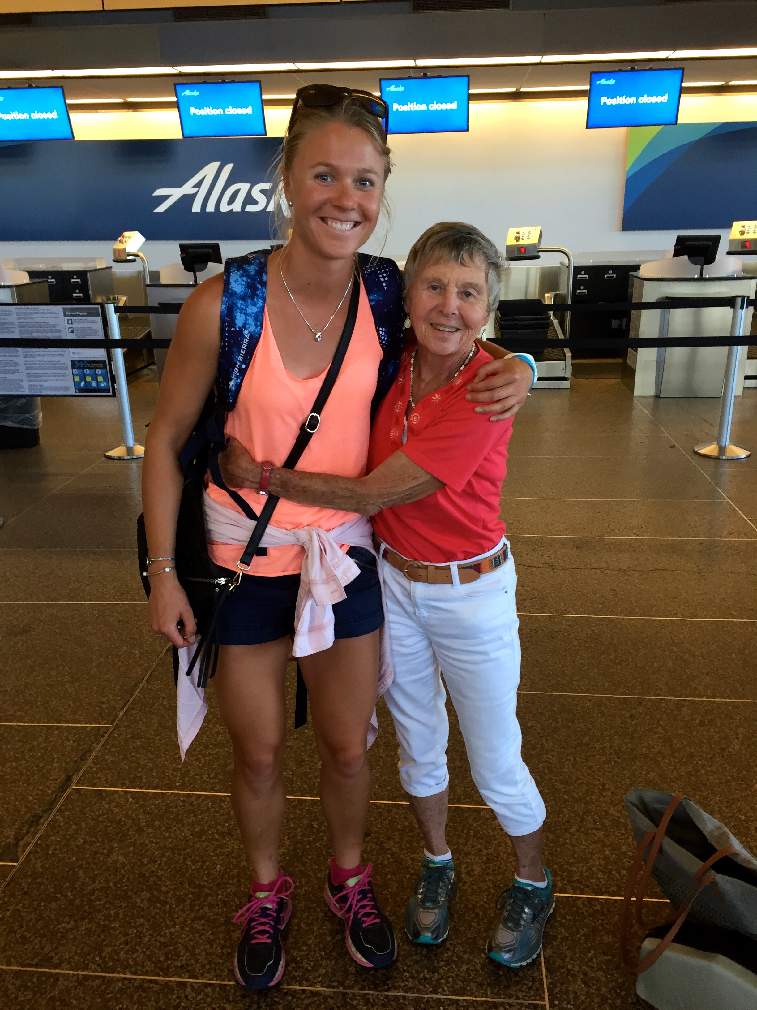 A little Granny time on a long layover through Seattle. As you can see, I think I got my height from her!!