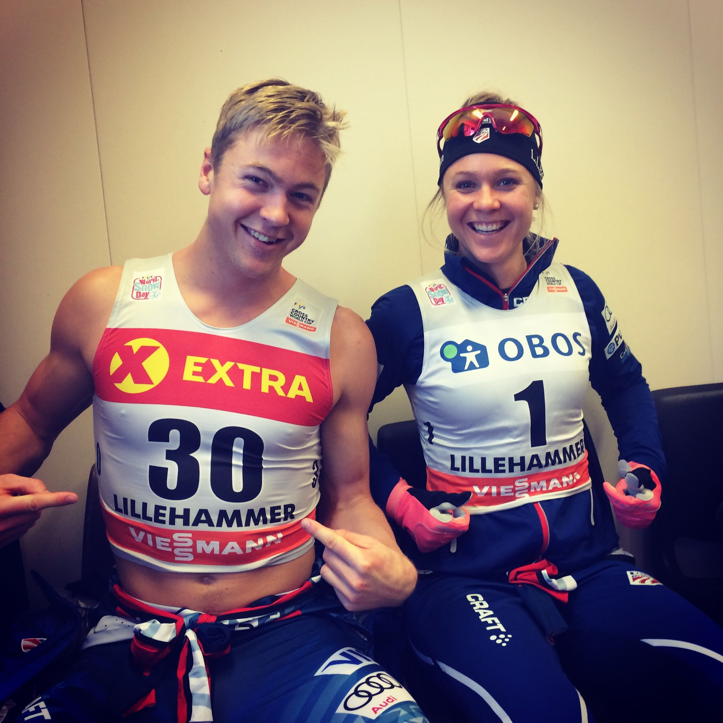 Bjornsen bookends for the qualification rounds. (Sophie Caldwell photo)