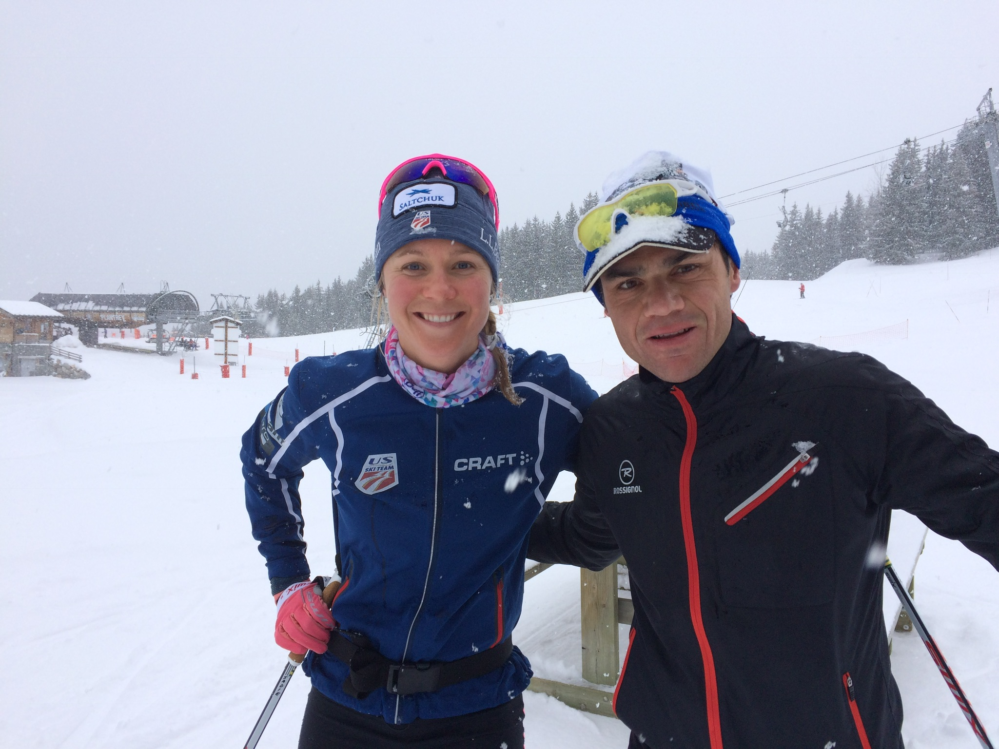I made a new friend on the trails, who happened to manage the Olympic Parc in town. Huge thanks to Yann Pesando for giving me access to the gym and spa in Meribel, making my camp even better!