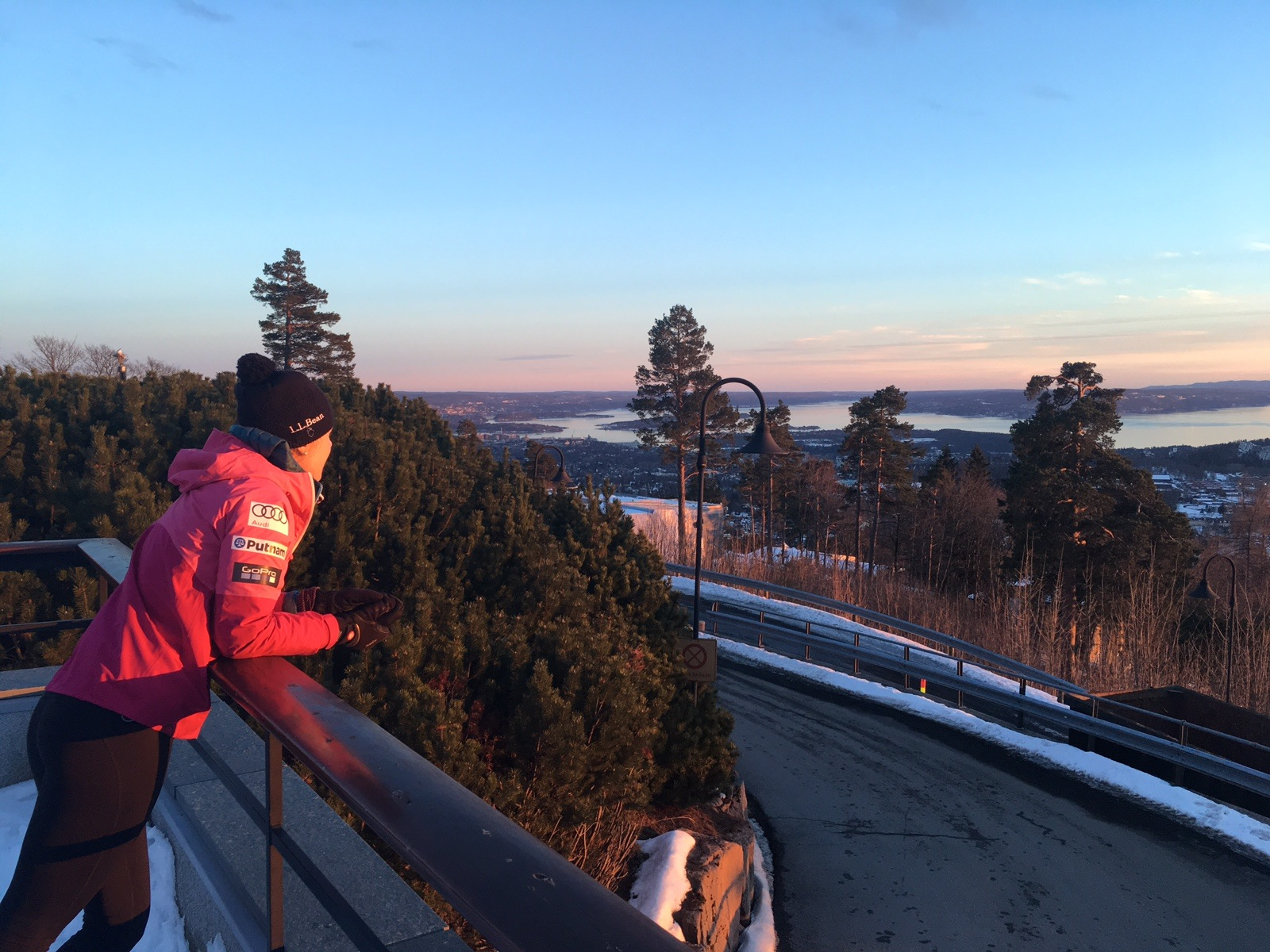 I always enjoy racing in Oslo! Holmenkollen is my favorite place in the world to race! That view almost feels like home.