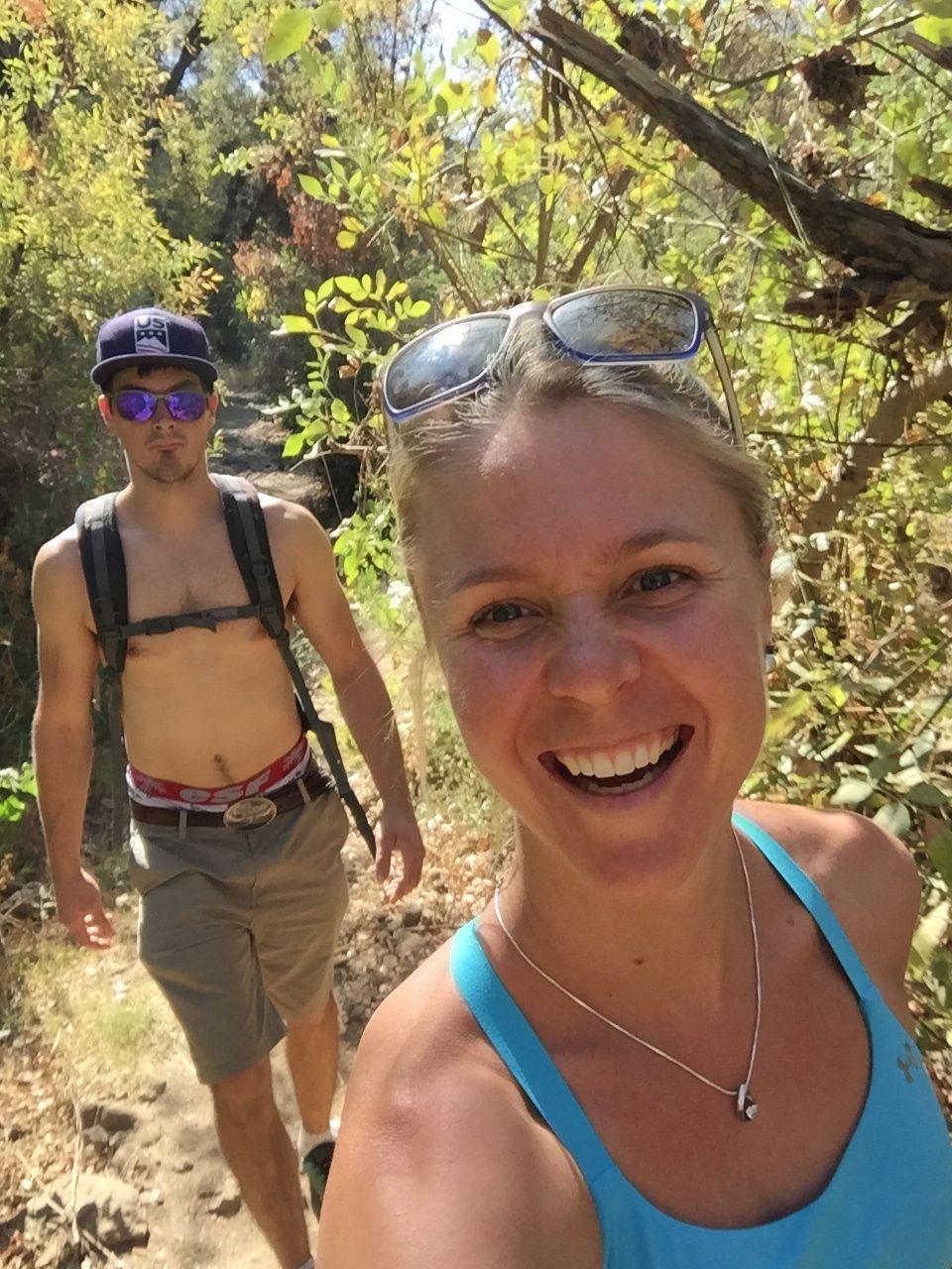 Hiking in the heat!