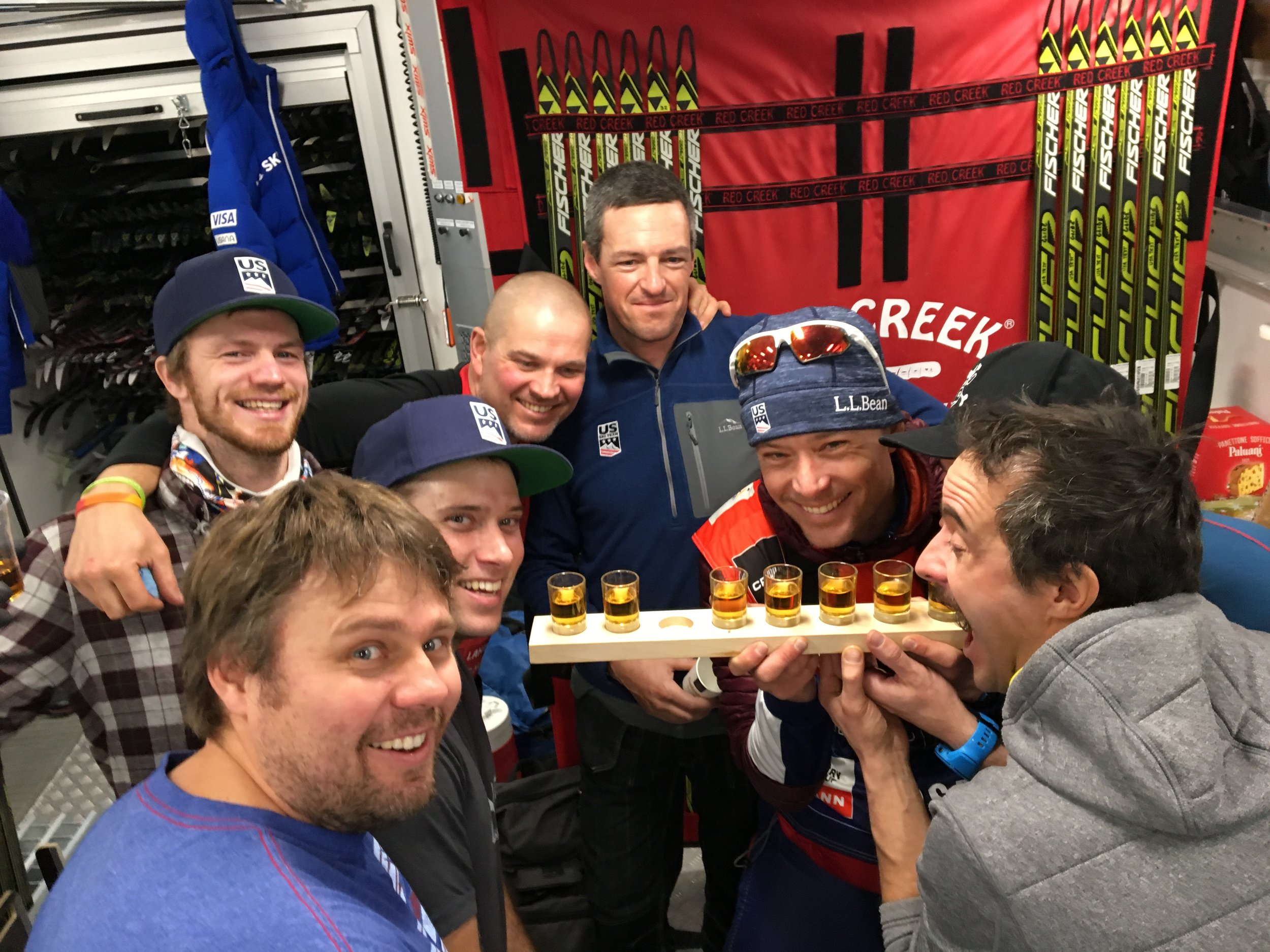 Sometimes I wish we could bring our wax technicians up on the podium with us... but then it would get pretty busy, because these boys work as a team! They deserve at least 50% of the credit, because we wouldn't be able to do it without them. Even if they don't step up on the podium, they still celebrate podiums, and never take for granted a day they manage to out wax the rest of the world.