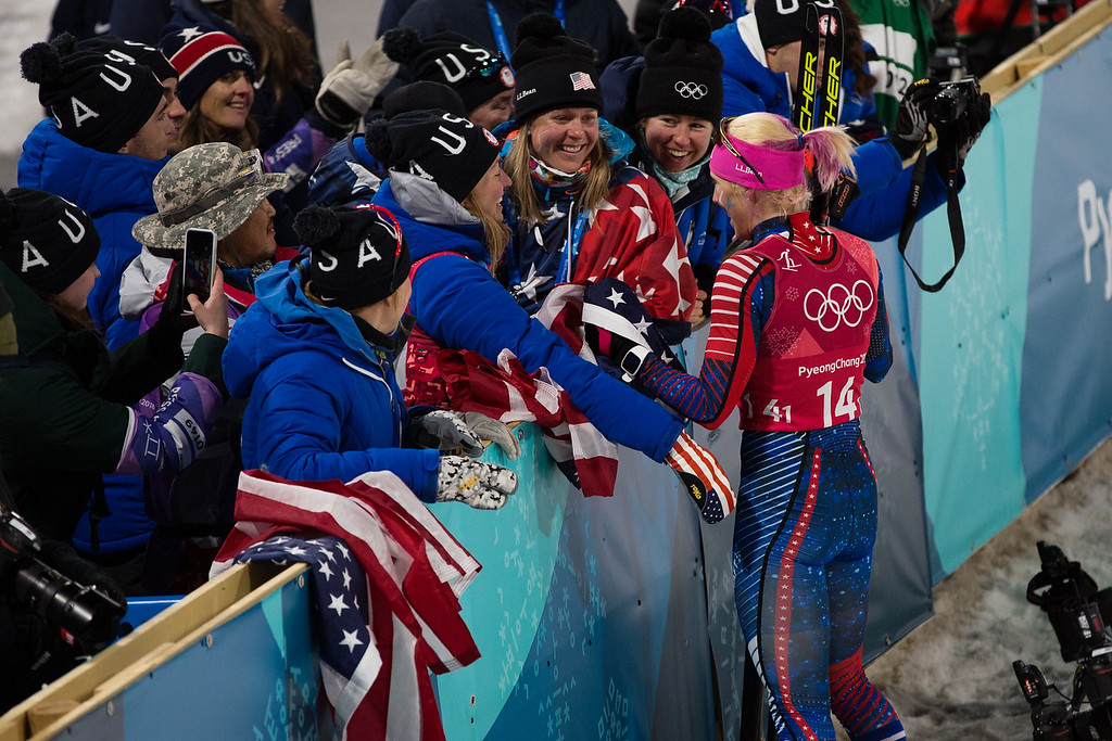 This is the image of a team that just won a gold medal together! (USSA photo).