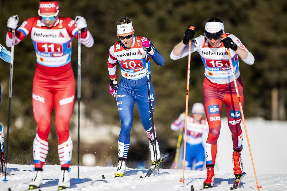 Relay socks and war paint. (Nordic Focus photo)