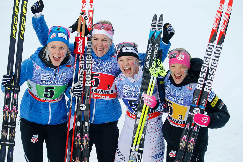 2016 4x5 KM Silver Medal- Nove Mesto, Czech Republic (Getty Images)