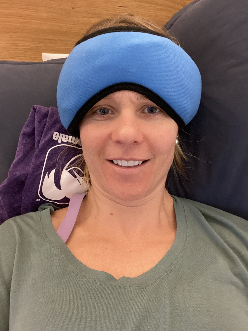 Tour de Ski… where you do weird things like wear heating pads on your head because you are nervous…. and you give yourself headaches!