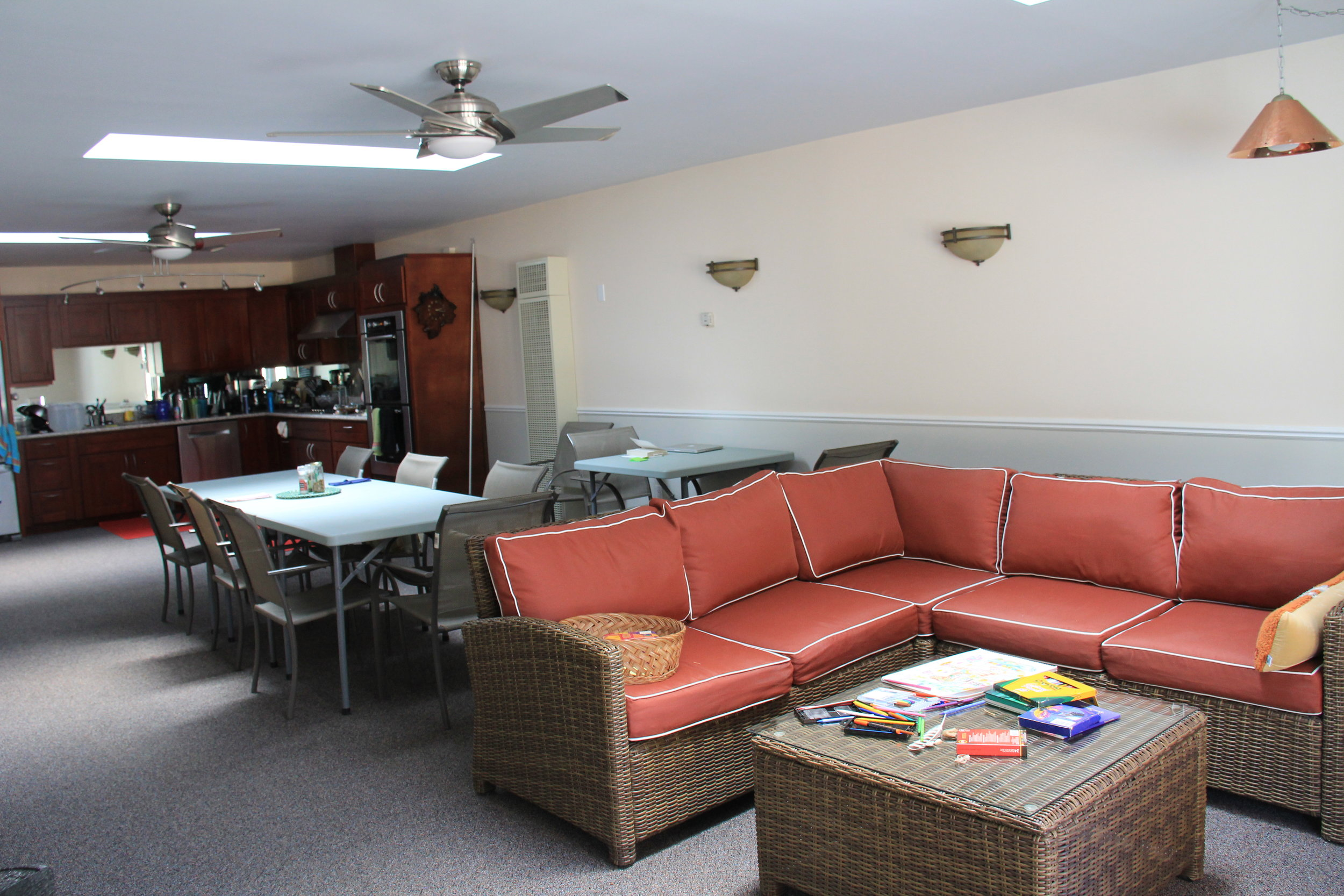 There's seating for everyone in the Lodge living area
