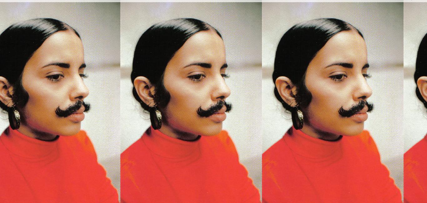 """Untitled"" (Facial Hair Transplant, Moustache) 1972 - Ana Mendieta"