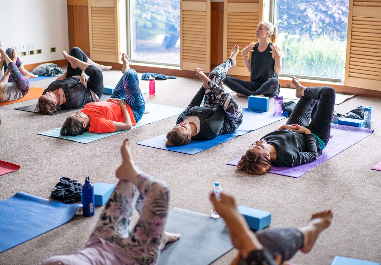 Guests were treated to two yoga classes during the relaxing retreat