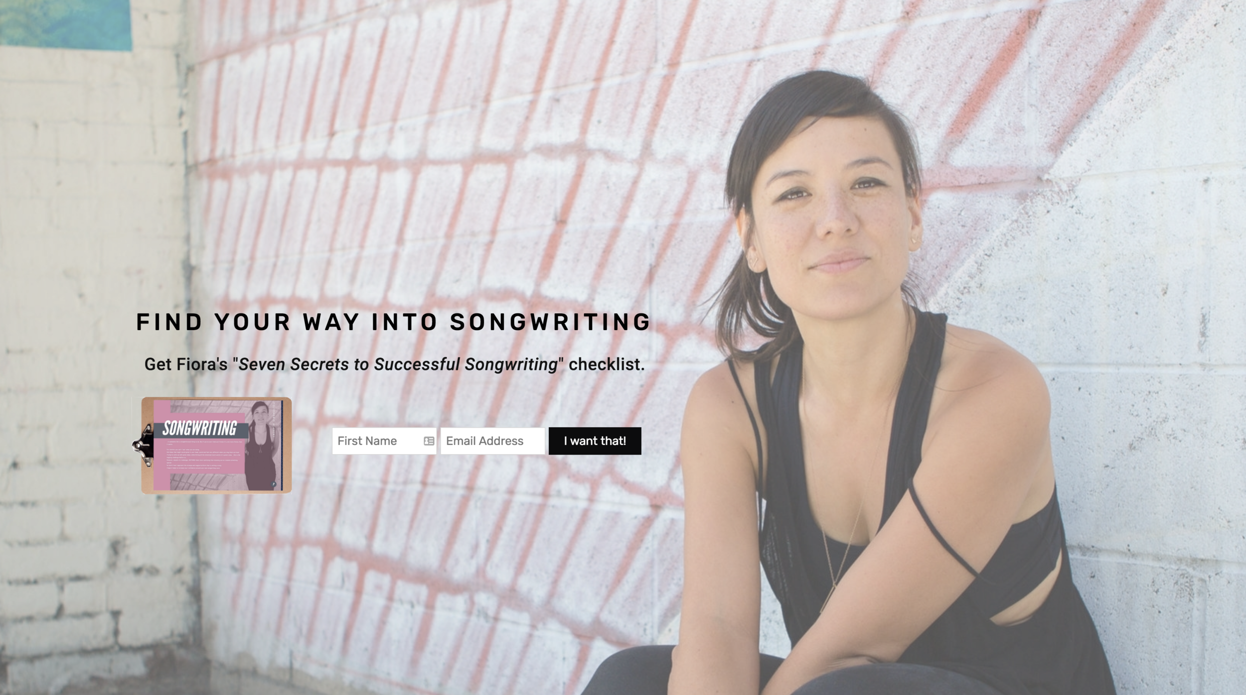 Songwriting With Fiora Site