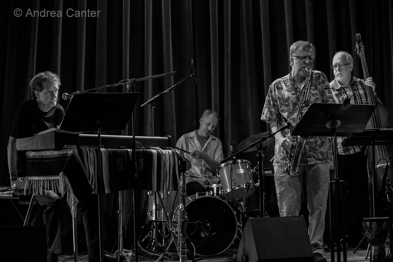 Larry McDonough, piano and vocals Richard Terrill, saxes and poetry Greg Stinson, bass Dean White, drums