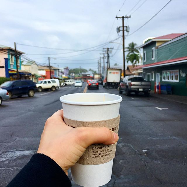 Come get a $1 cup of coffee at Maka today! #organic #mauicoffeeroasters #supportlocal