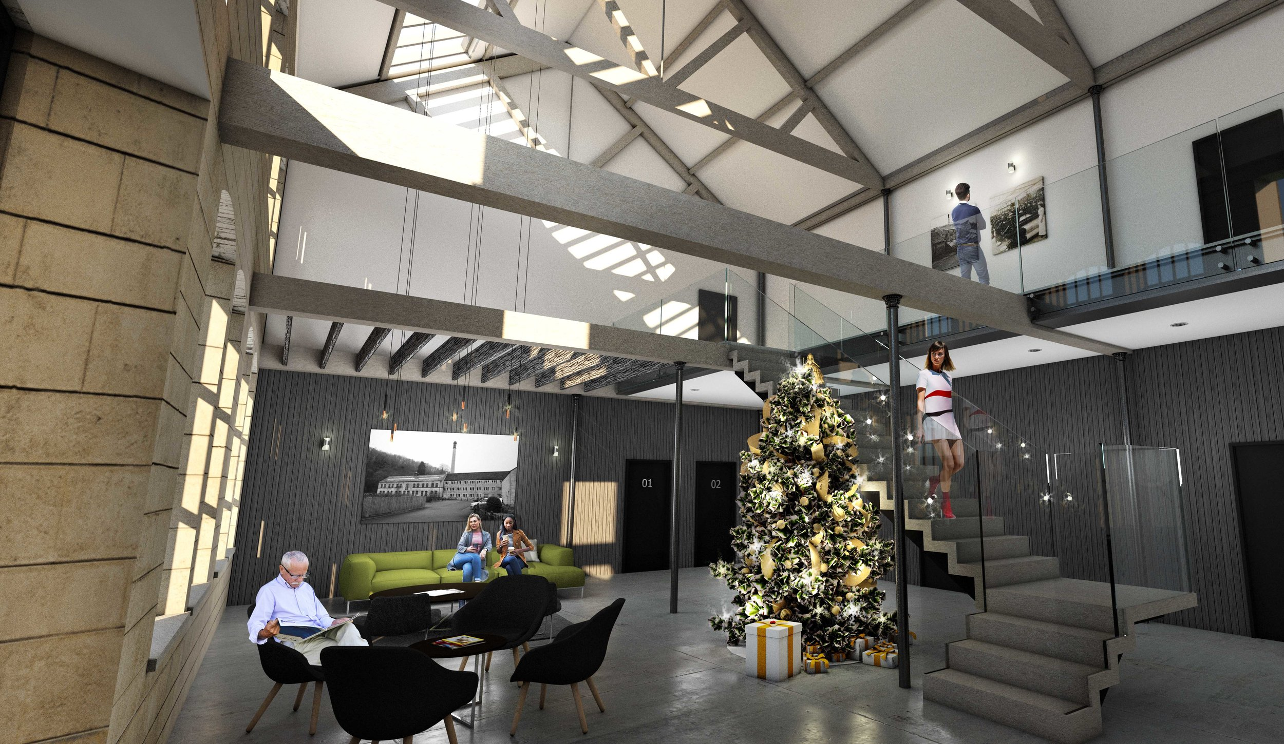 Design concept for Longfords Mill