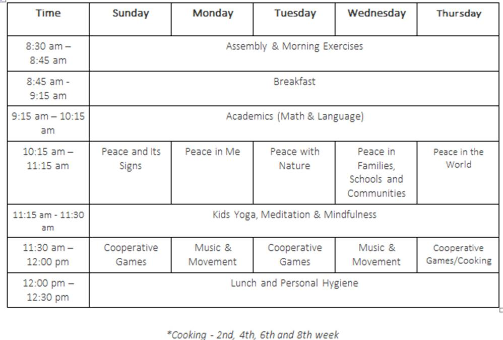 DLSM Summer Camp 2016 Schedule