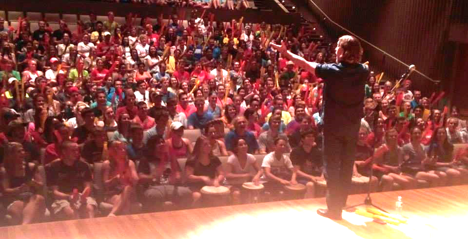 Jim Donovan and 500 college freshman getting ready to create music together in Minnesota.