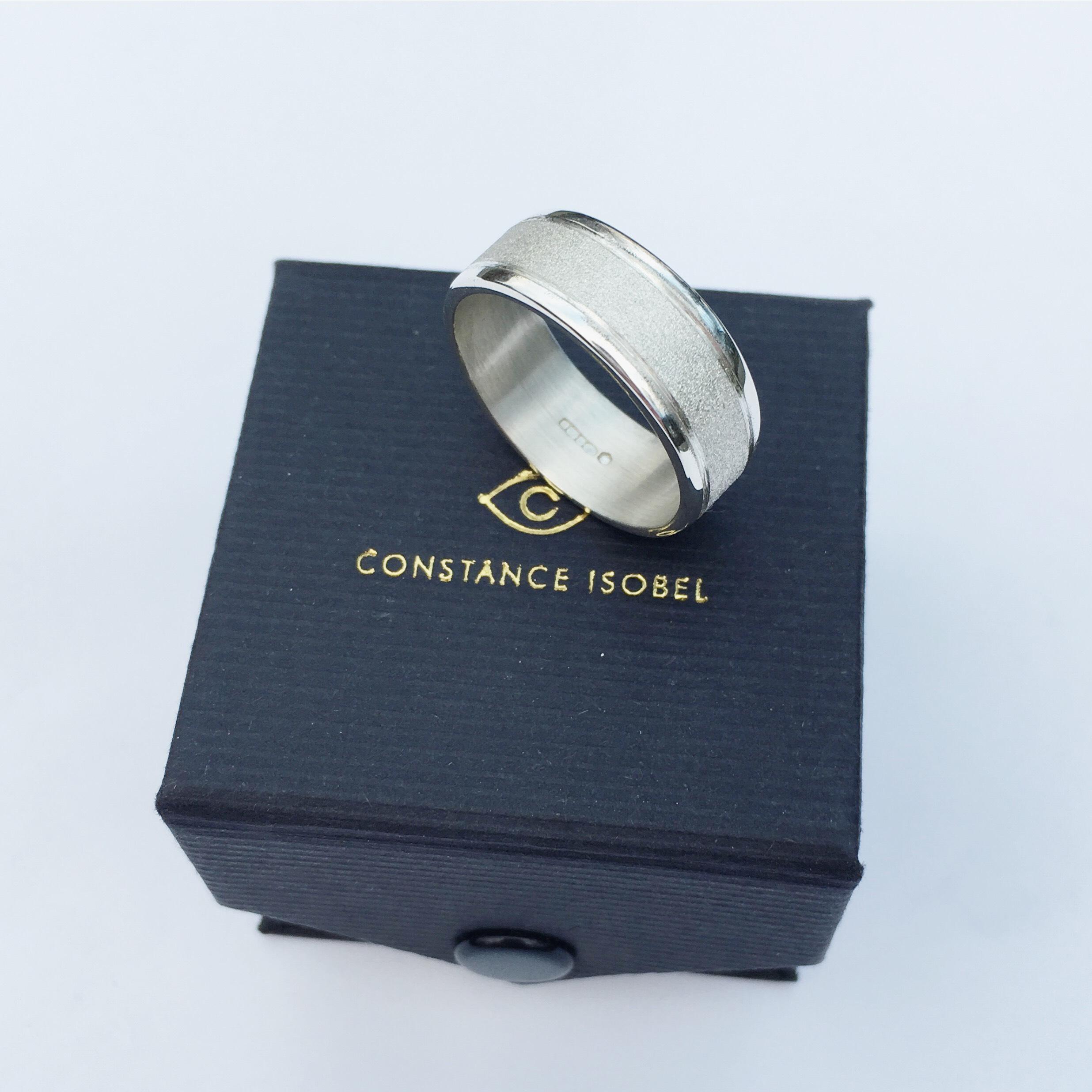 Constance Isobel. Silver Mens wedding ring.jpeg