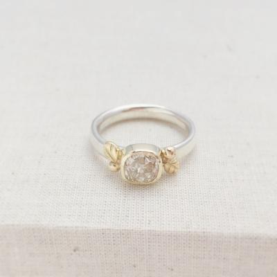 Diamond Ring, handmade by Constance Isobel.