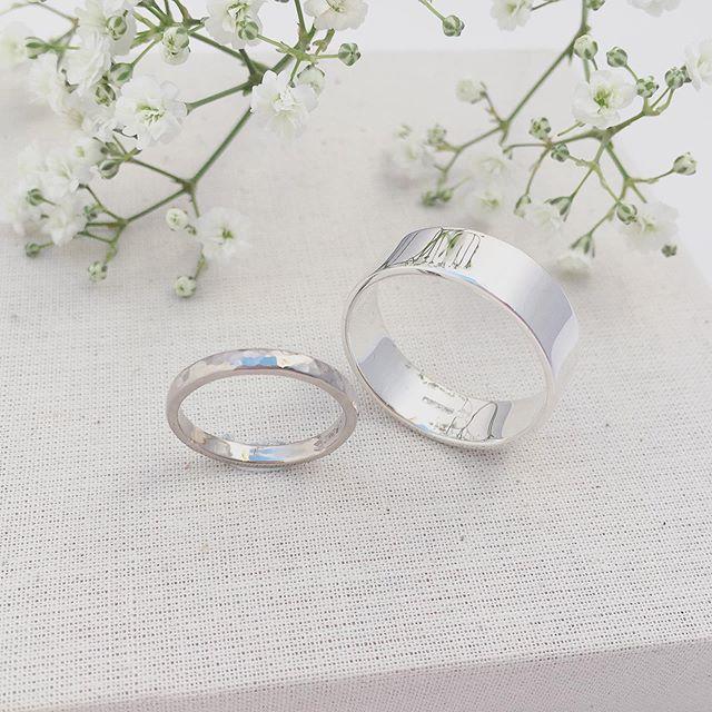 White gold & Silver wedding rings handmade for a lovely couple. ♥️ #maywedding #whitegold #whitegoldweddingring #handmade #constanceisobel #handmadeweddingring #texturedweddingring #handmadeinyorkshire