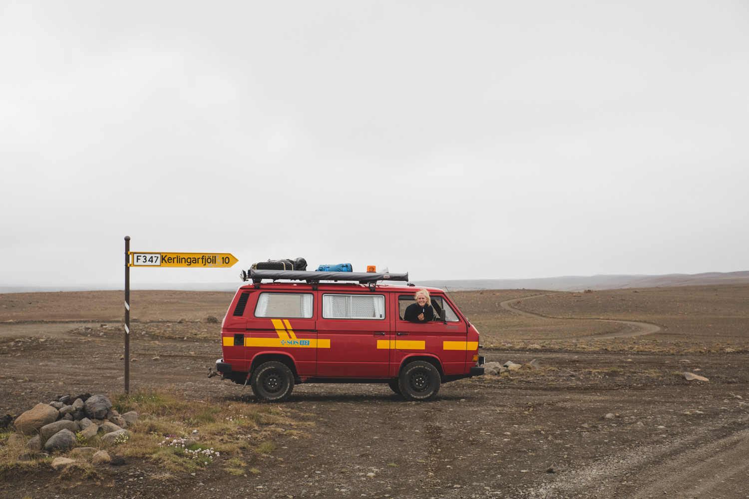Our very first long drive on F-roads in Iceland