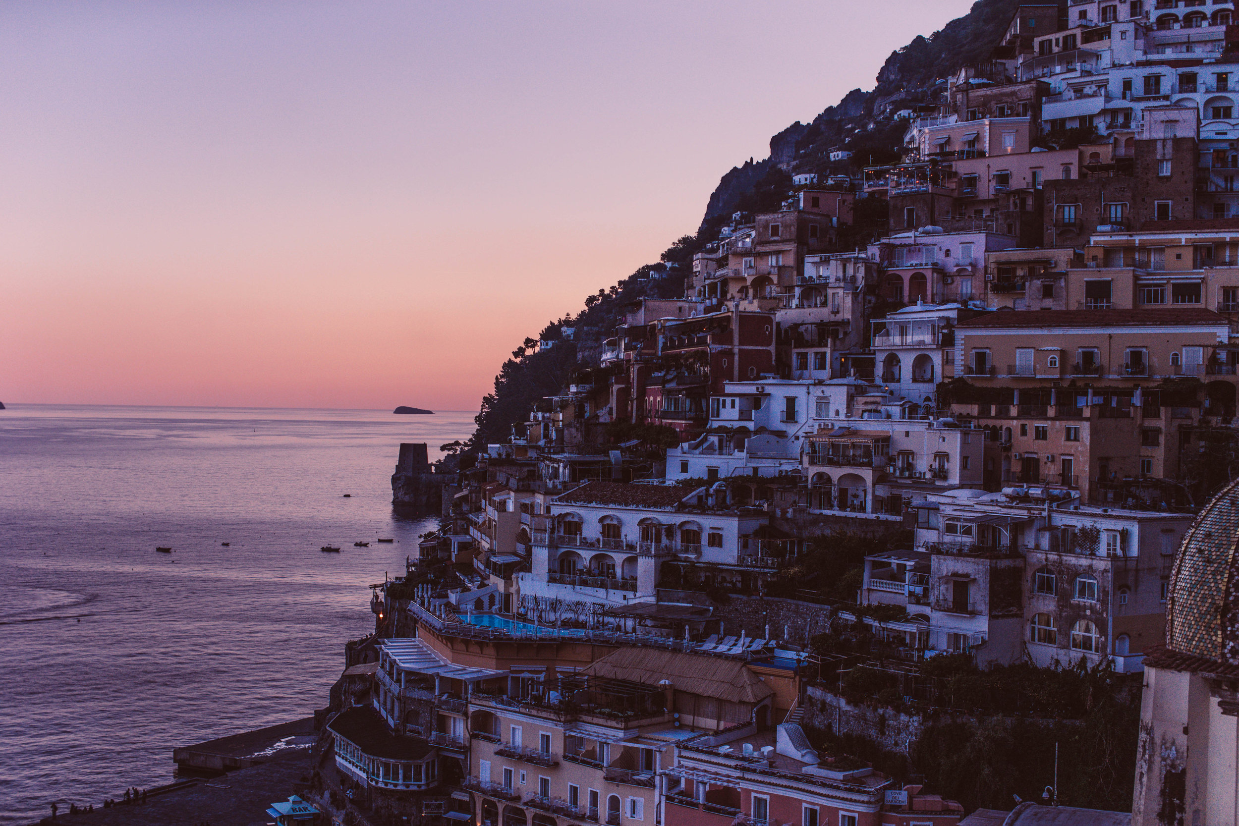 The view from Le Sirenuse, Positano
