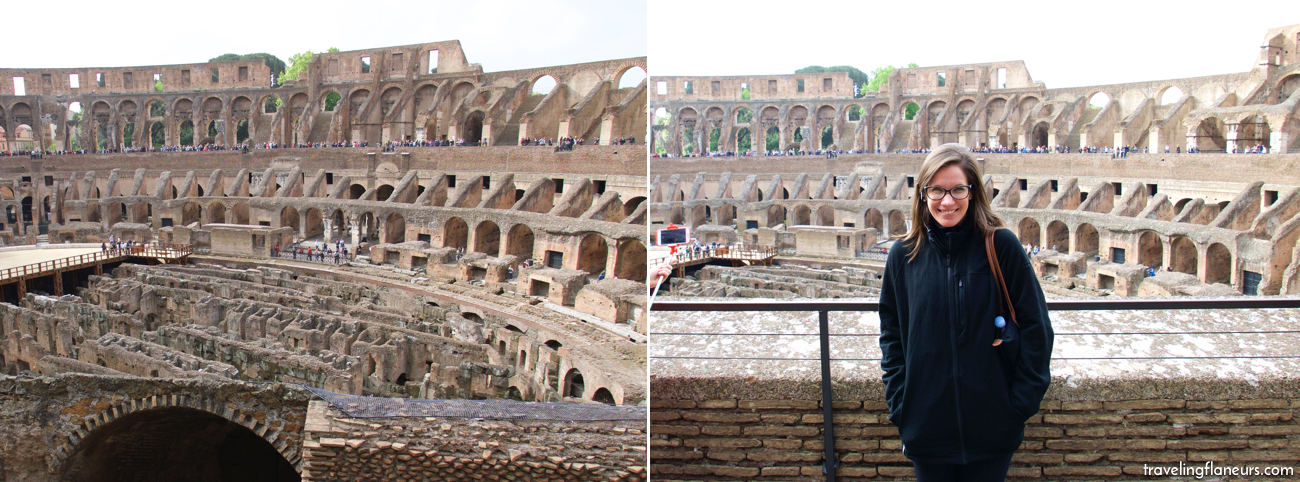 The photo of the Colosseum on the left could have been taken off of Google for all anyone at home knows. Meanwhile, the photo on the right tells more of a story...here I am, freezing cold wearing Paul's jacket during a great tour. Oh, and yes, that's a selfie stick to the left of me...they were everywhere that spring! See how much more a picture with you in it tells?!