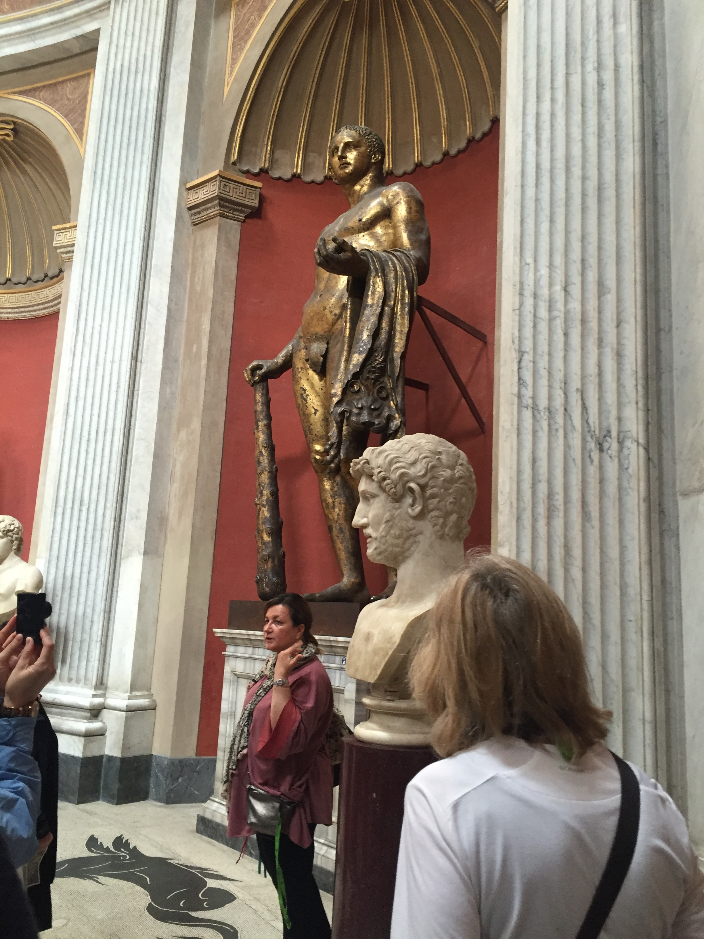 Our tour guide explained how important this statue of Hercules was. It's one of the few remaining bronze statues in Rome.