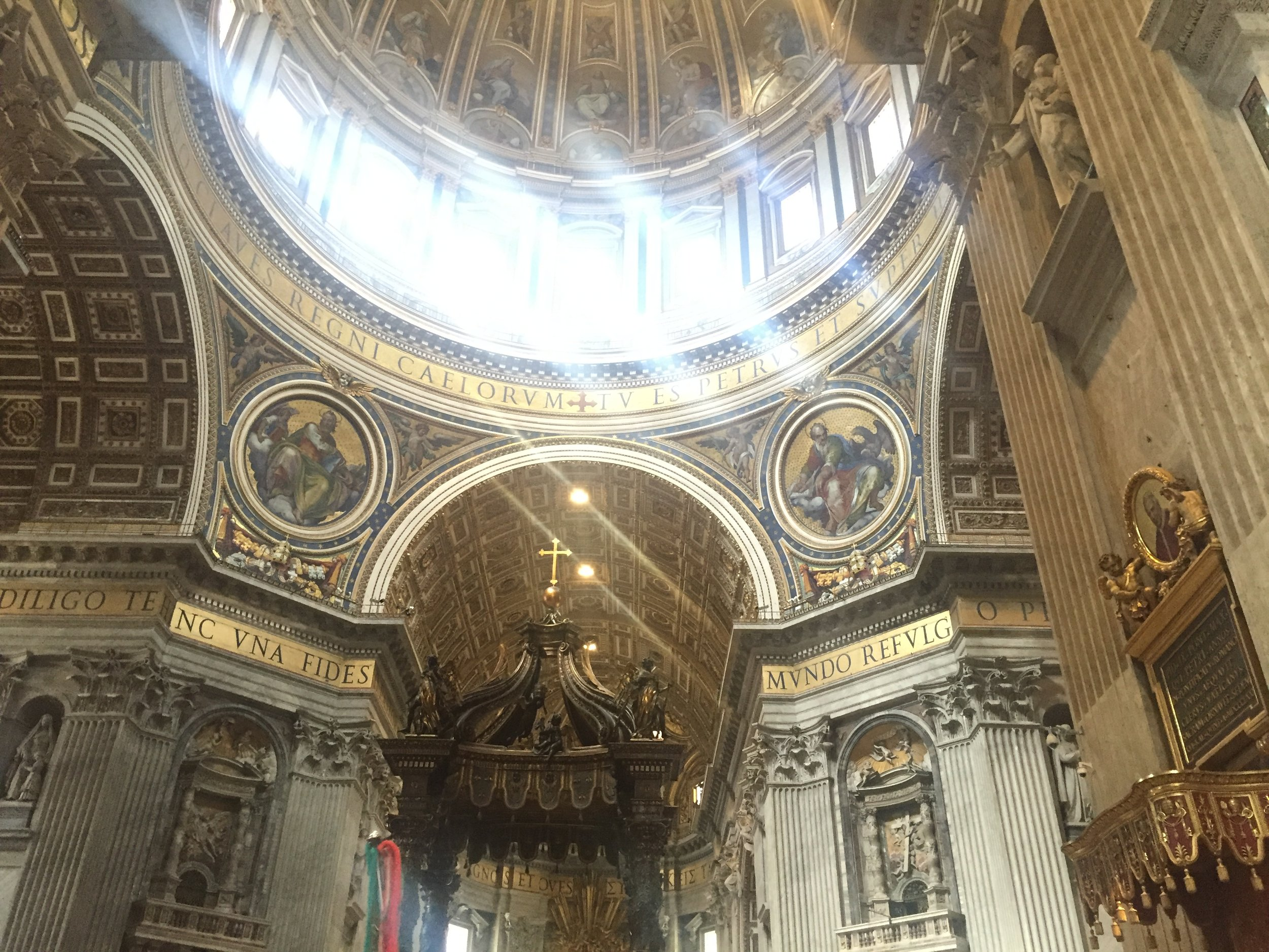 Inside St. Peter's was beautiful!