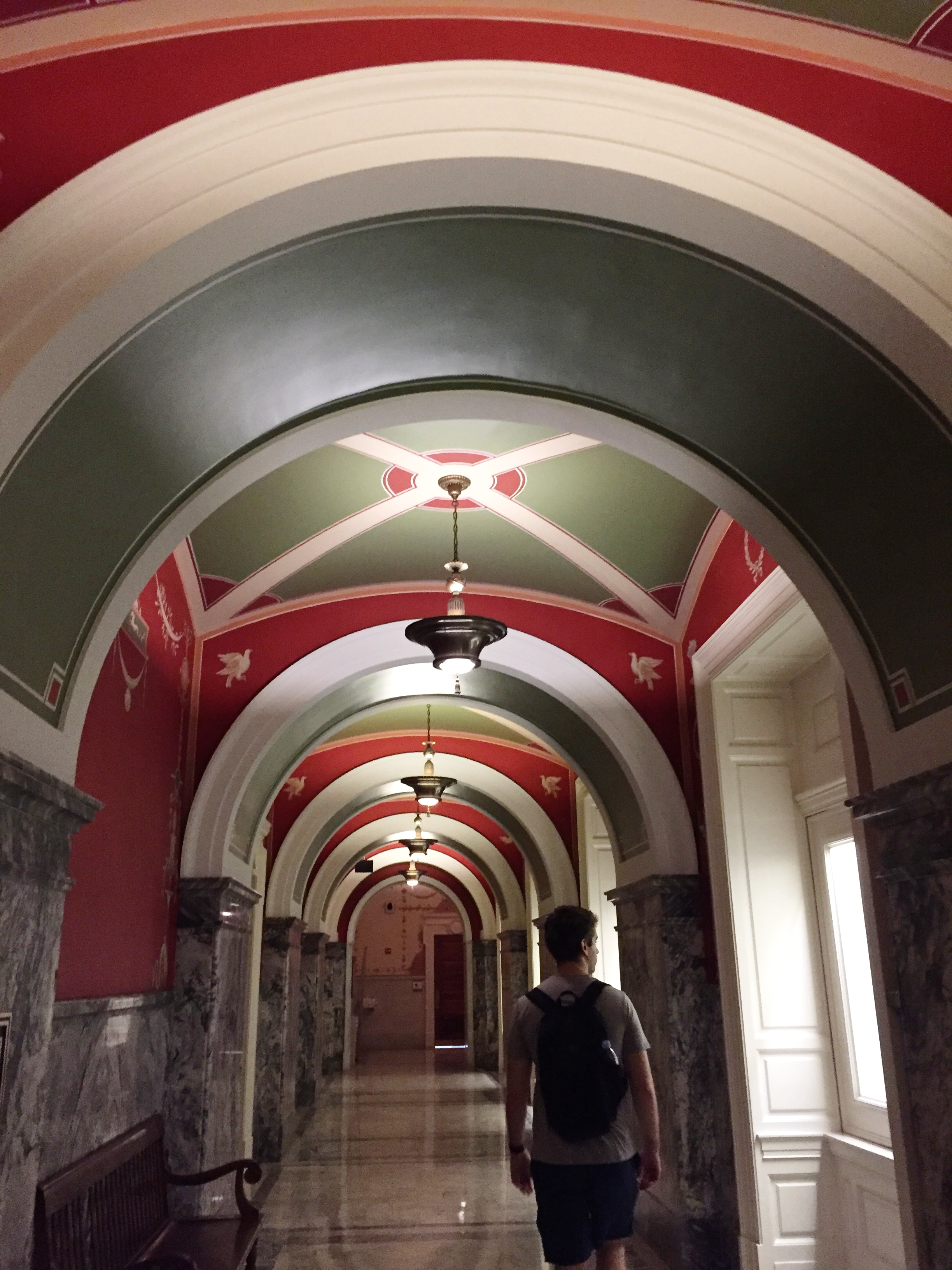 Walking the halls of the Library of Congress