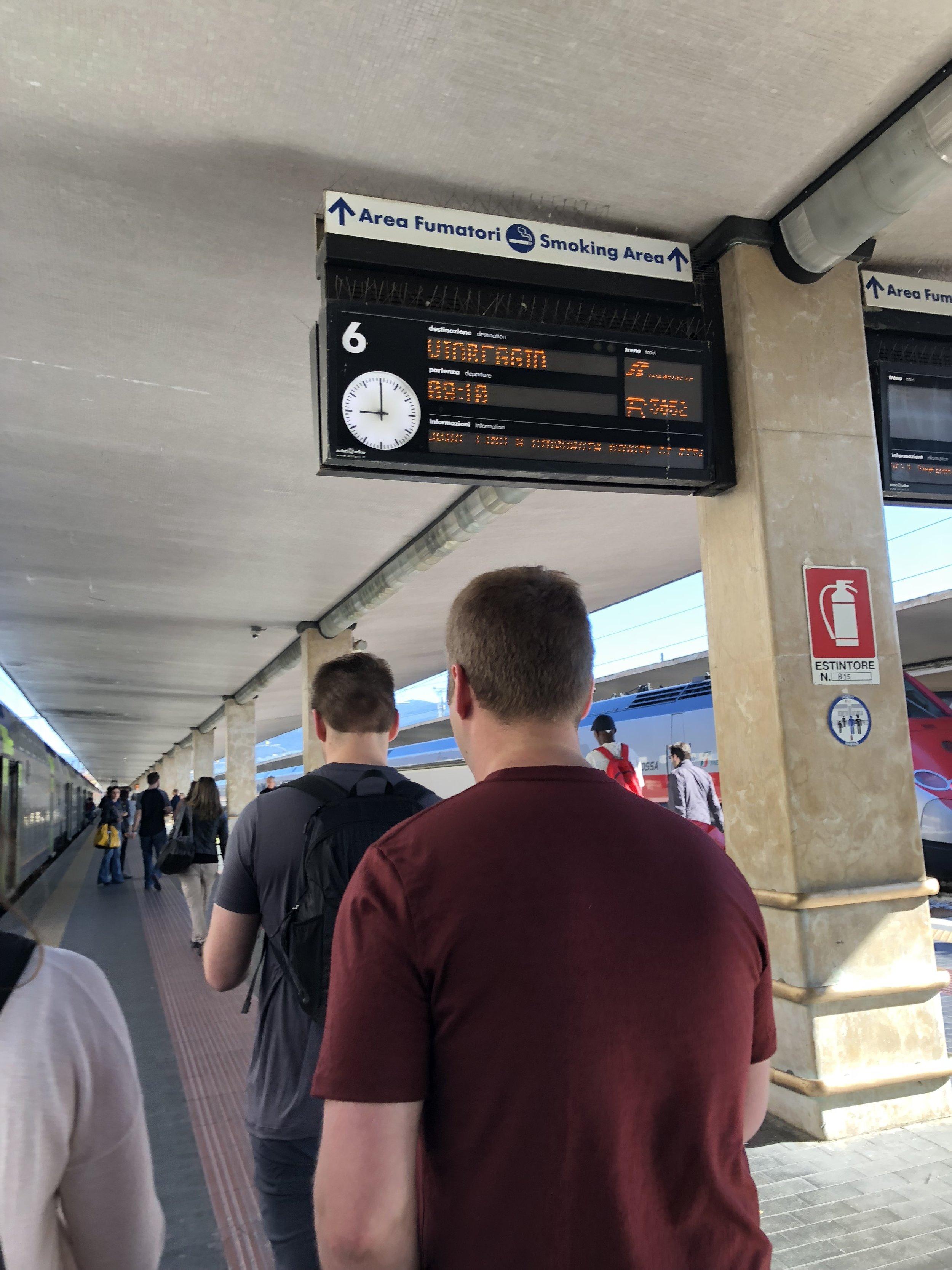 Train platforms at Florence's SMN train station