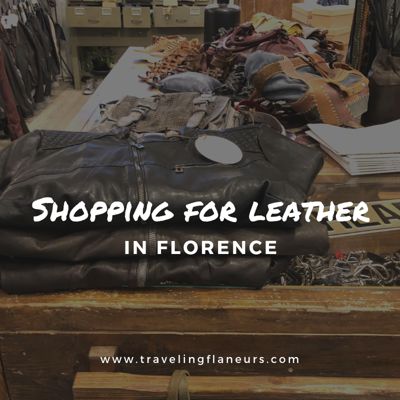 Shopping for leather in Florence