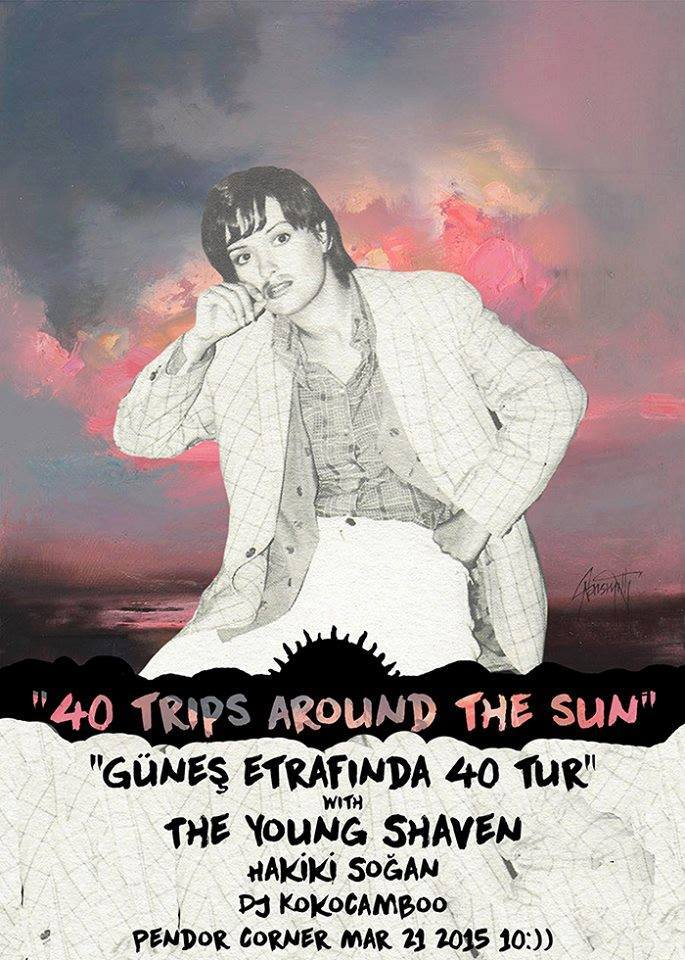 The Young Shaven 40 trips around the sun Poster