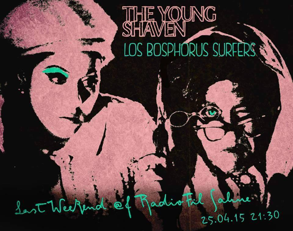 The Young Shaven & Los Bosphorus Surfers Poster
