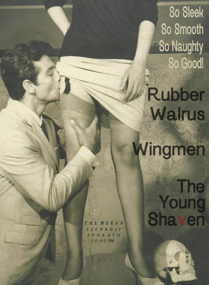 The Young Shaven, Rubber Walrus & Wingmen Poster