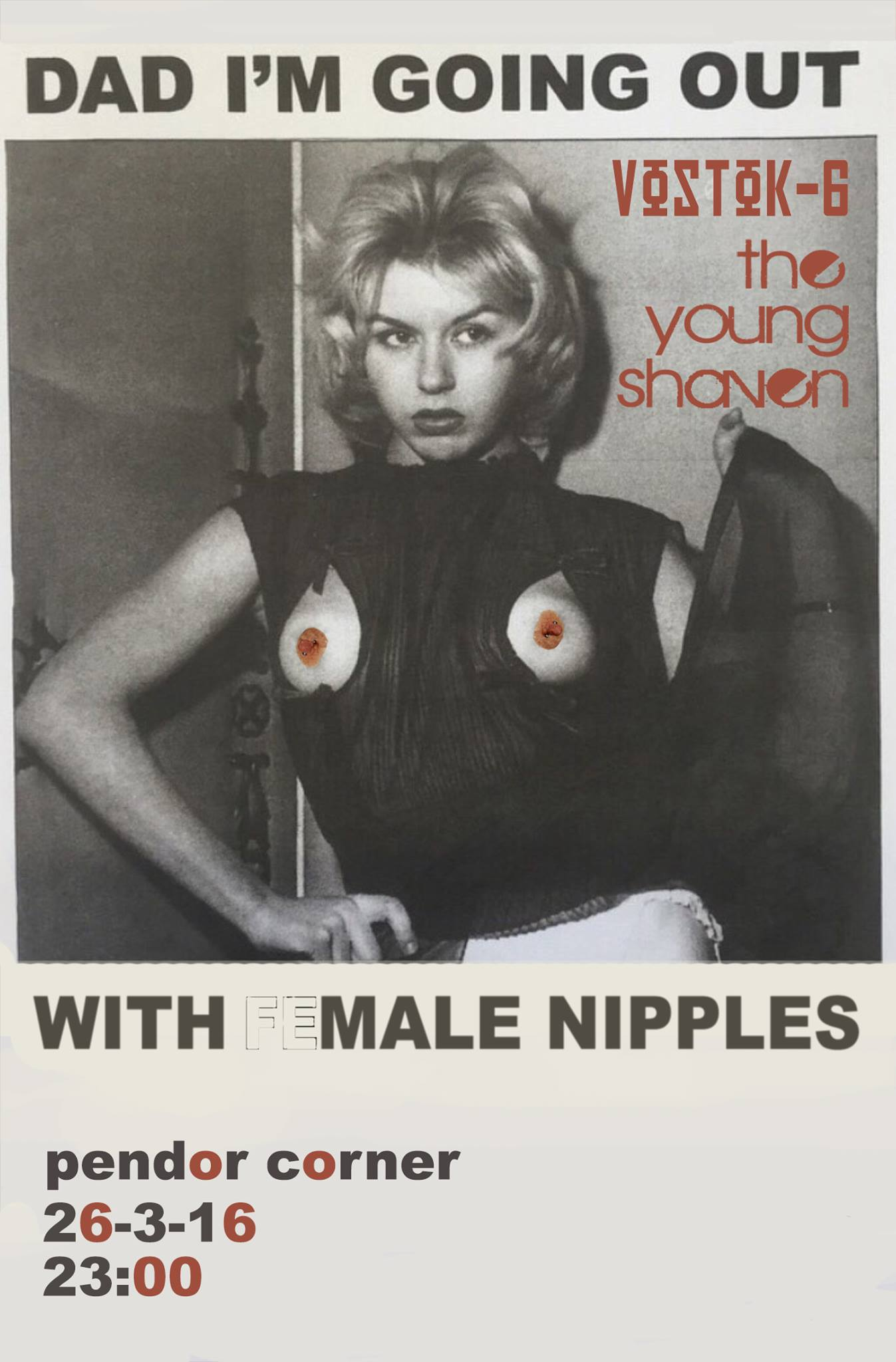 The Young Shaven Dad I'm going out with male nipples Poster