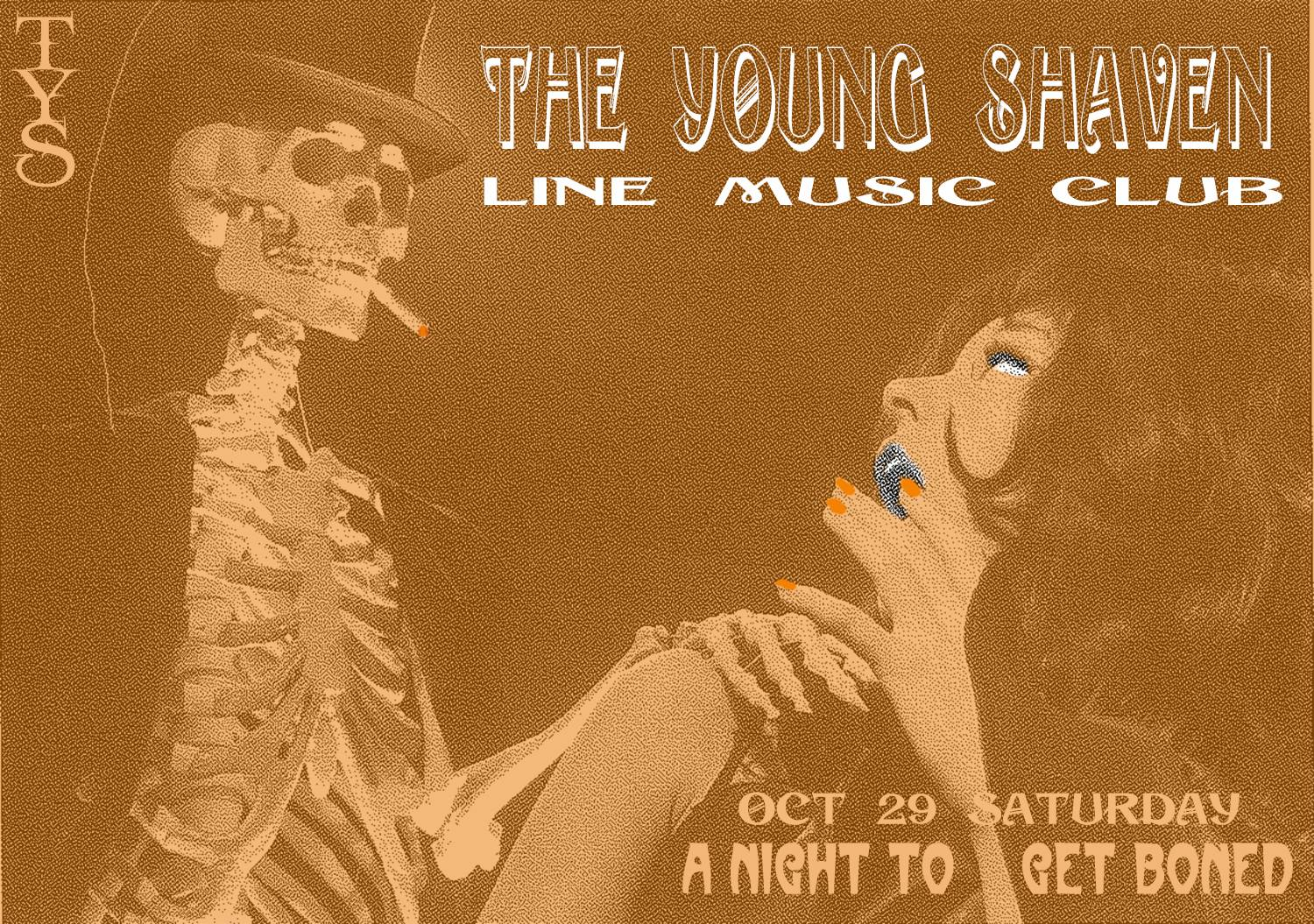 The Young Shaven Line Music Club Poster