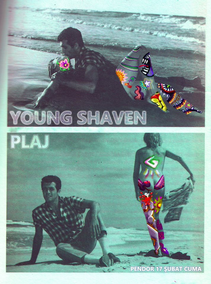 The Young Shaven Plaj poster
