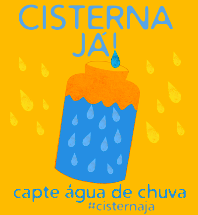 A poster promoting Vicinius Pereira's household rainwater capture  concept