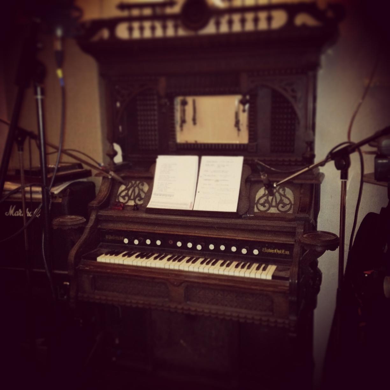Emily Scott's reclaimed harmonium
