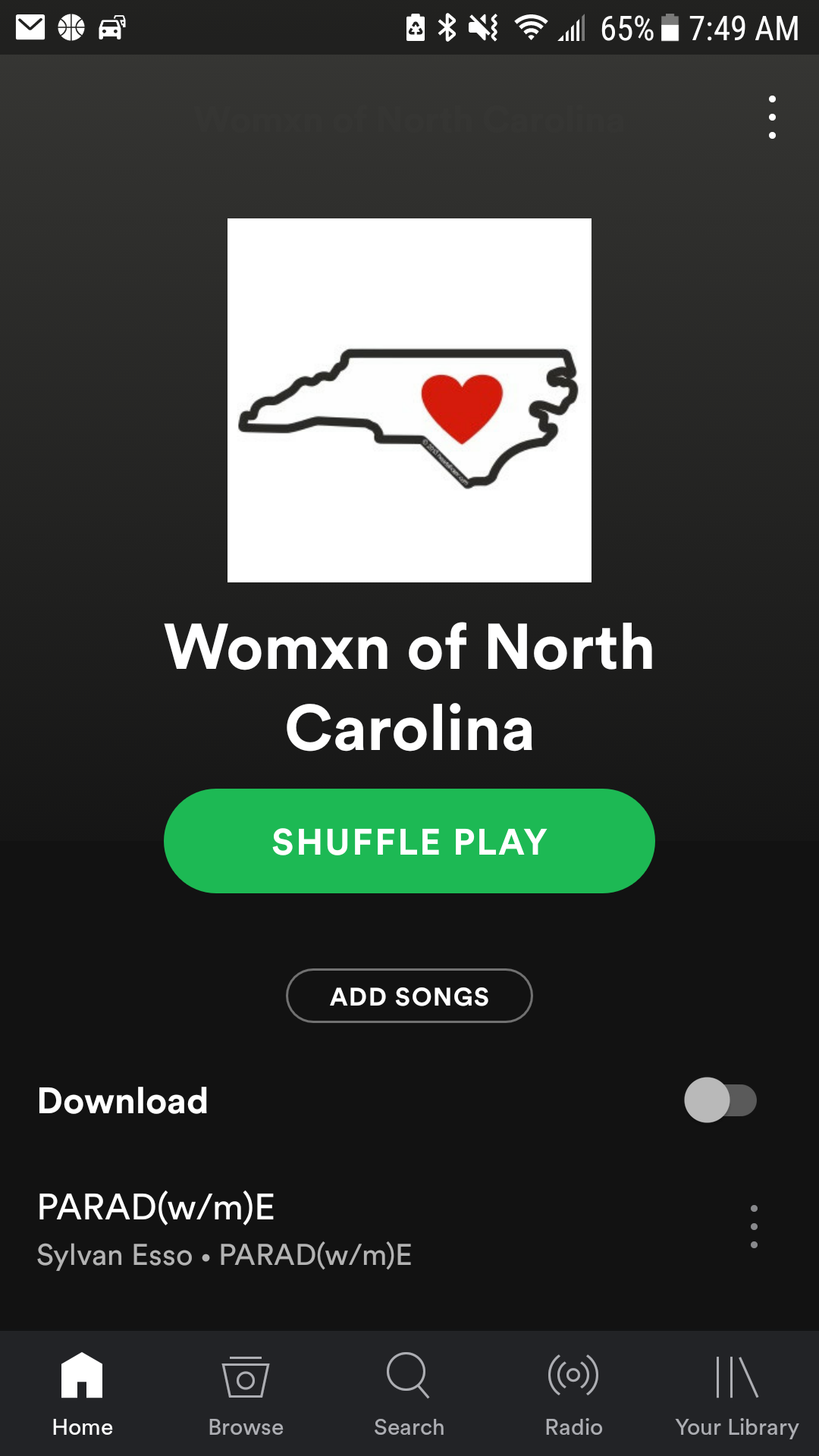 """Click to lINK TO """"WOMXN OF NORTH CAROLINA"""" SPOTIFY PLAYLIST"""