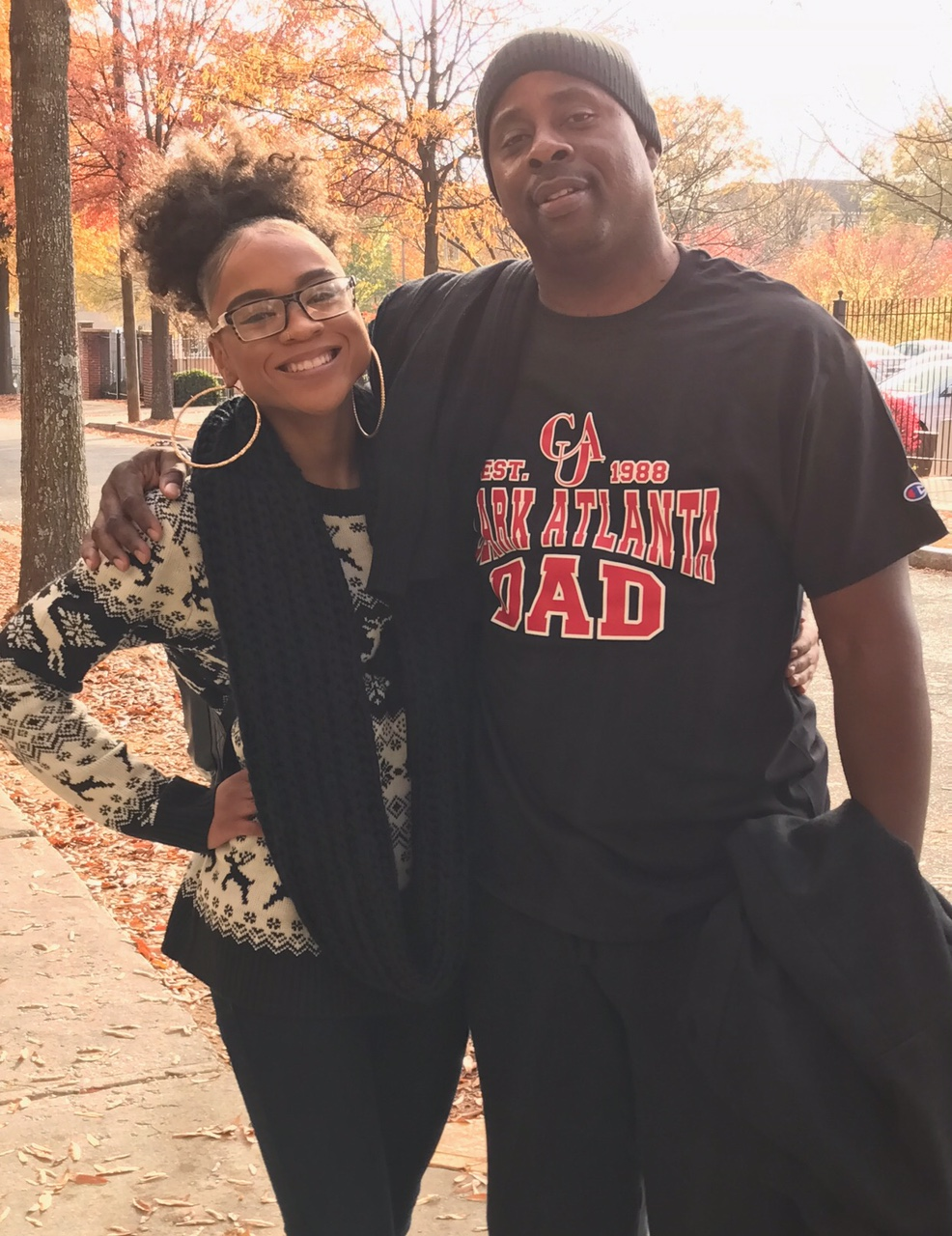 On our visit to Clark Atlanta University My Hubby Scored this t-shirt! Proud Dad!