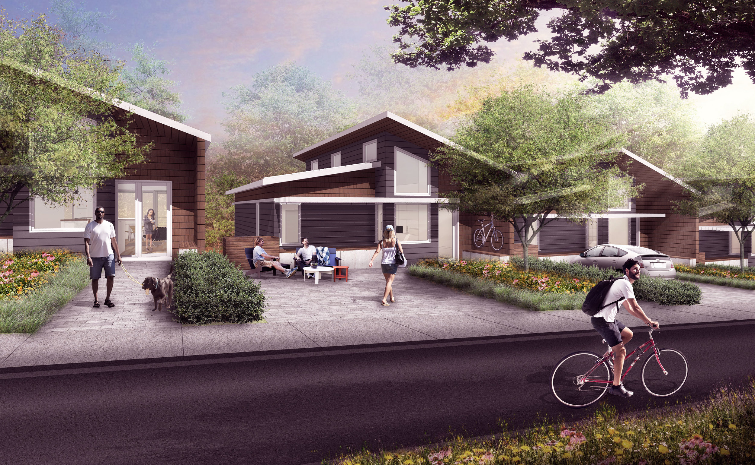 NextGen Home rendering by WM Whitaker Landscape Architects