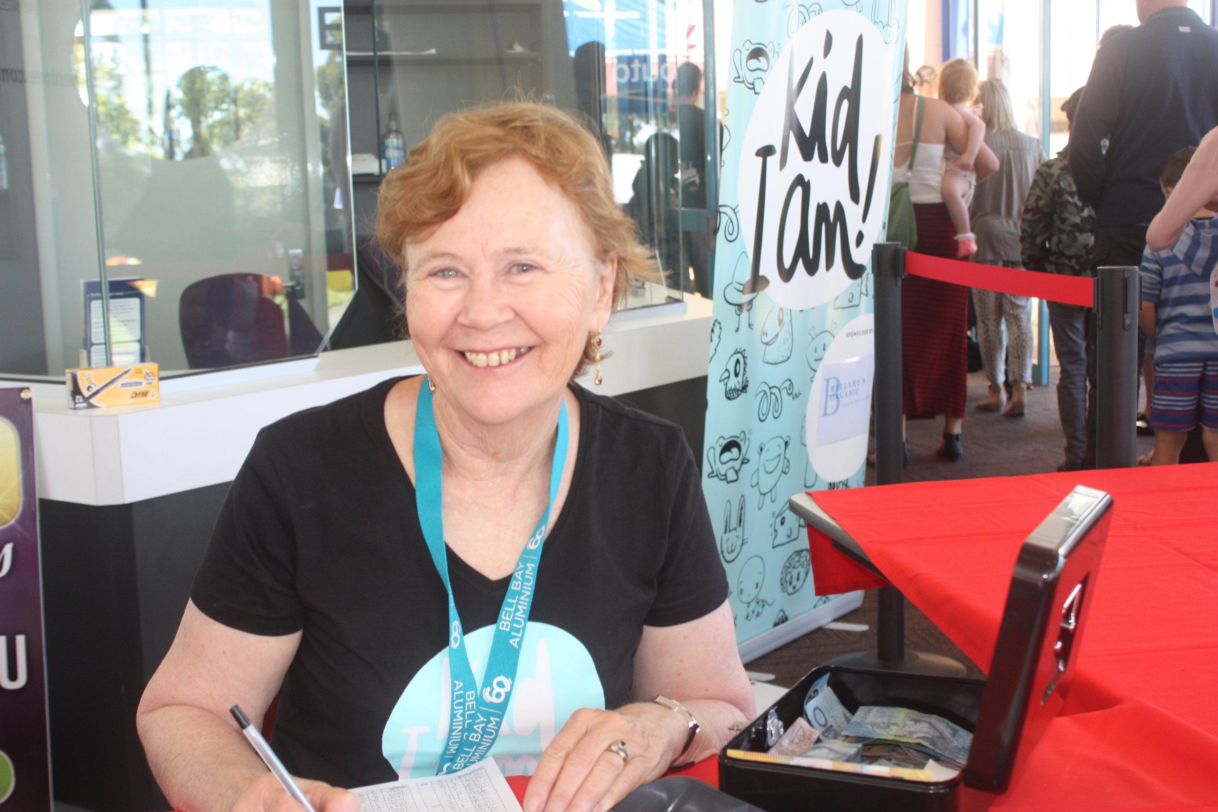 Smiley happy volunteer Valerie!