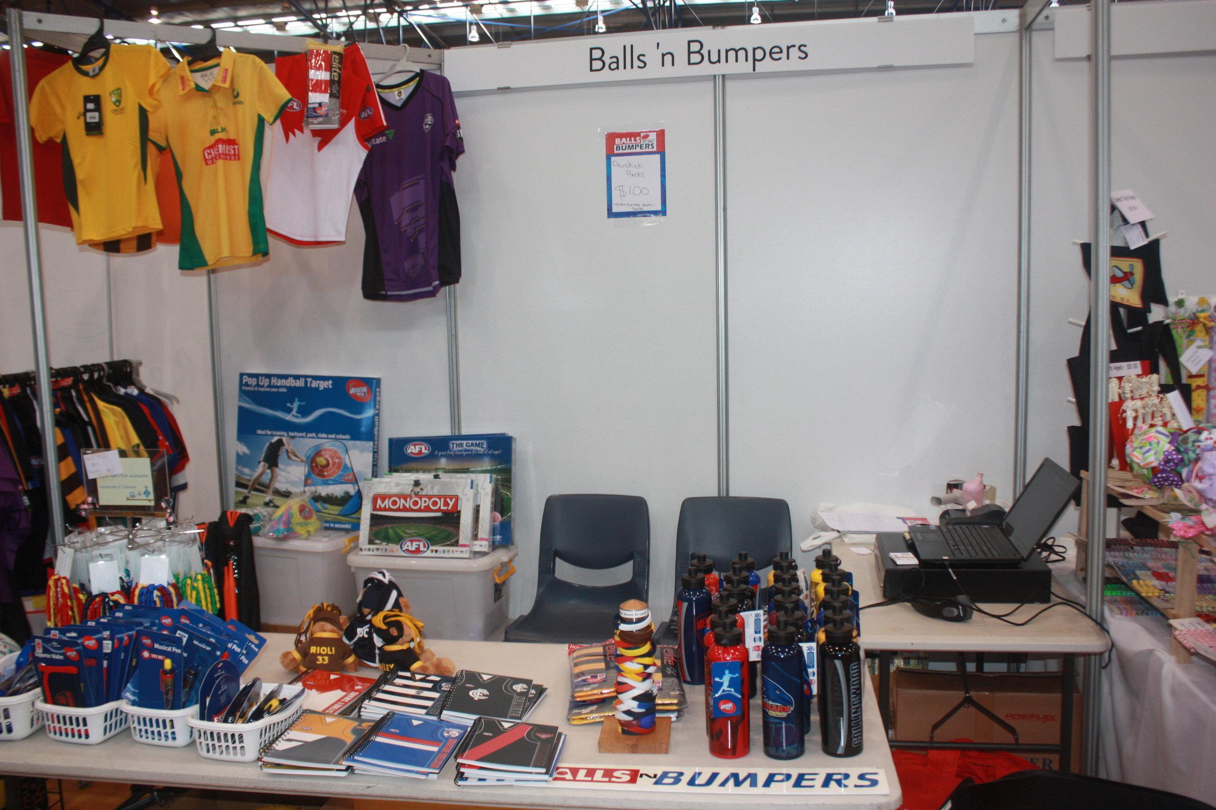 Balls N Bumpers pop up shop
