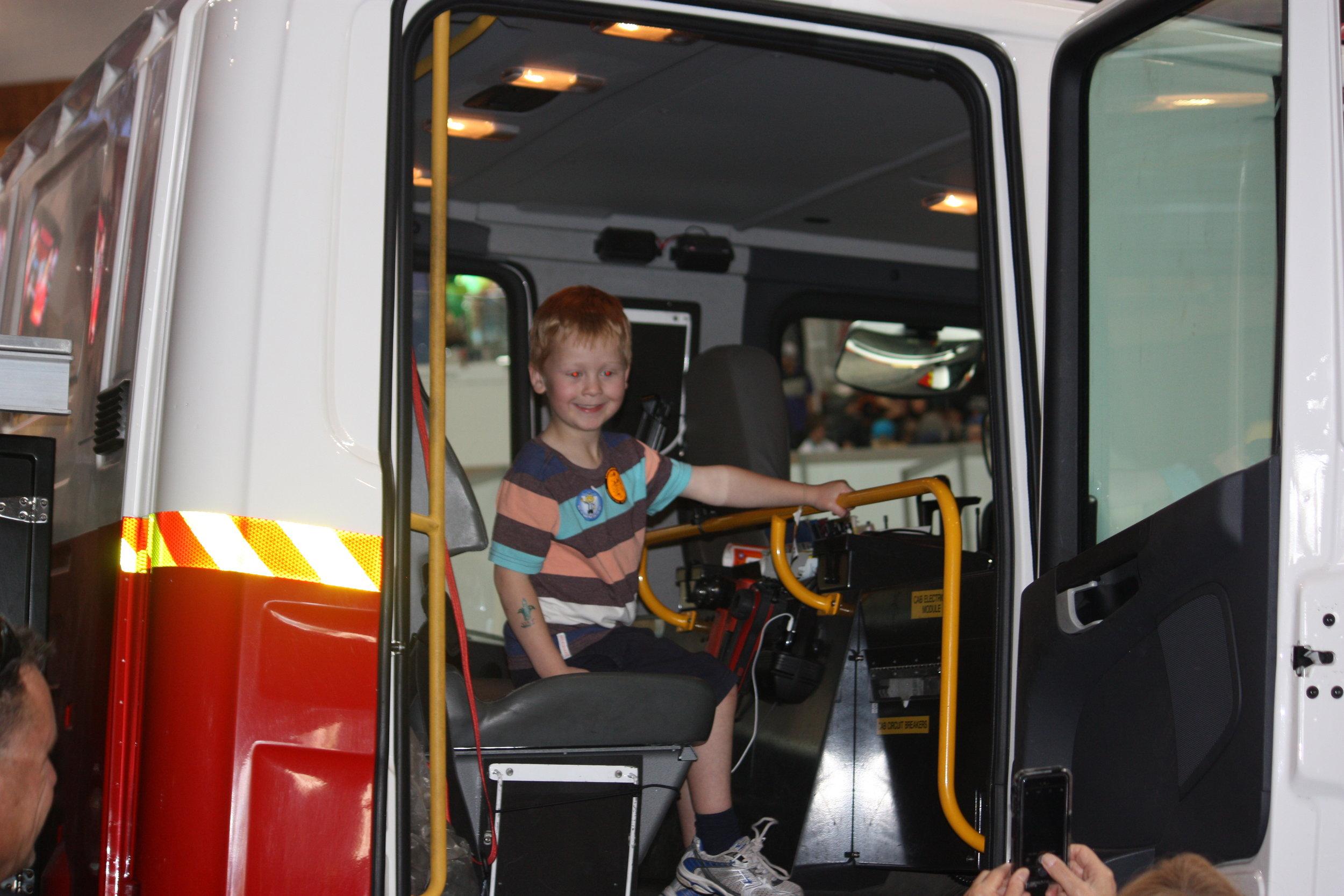 Kids love fire trucks