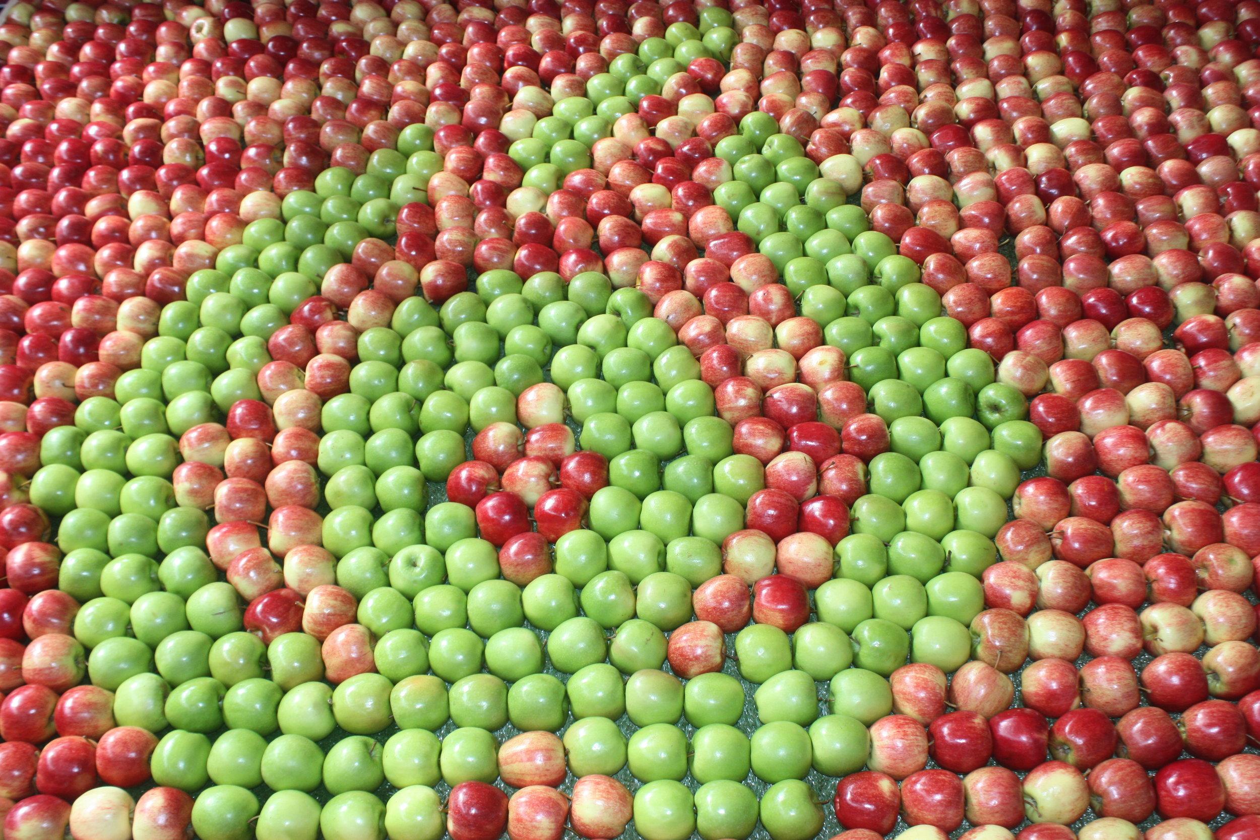 Woolworths apple display