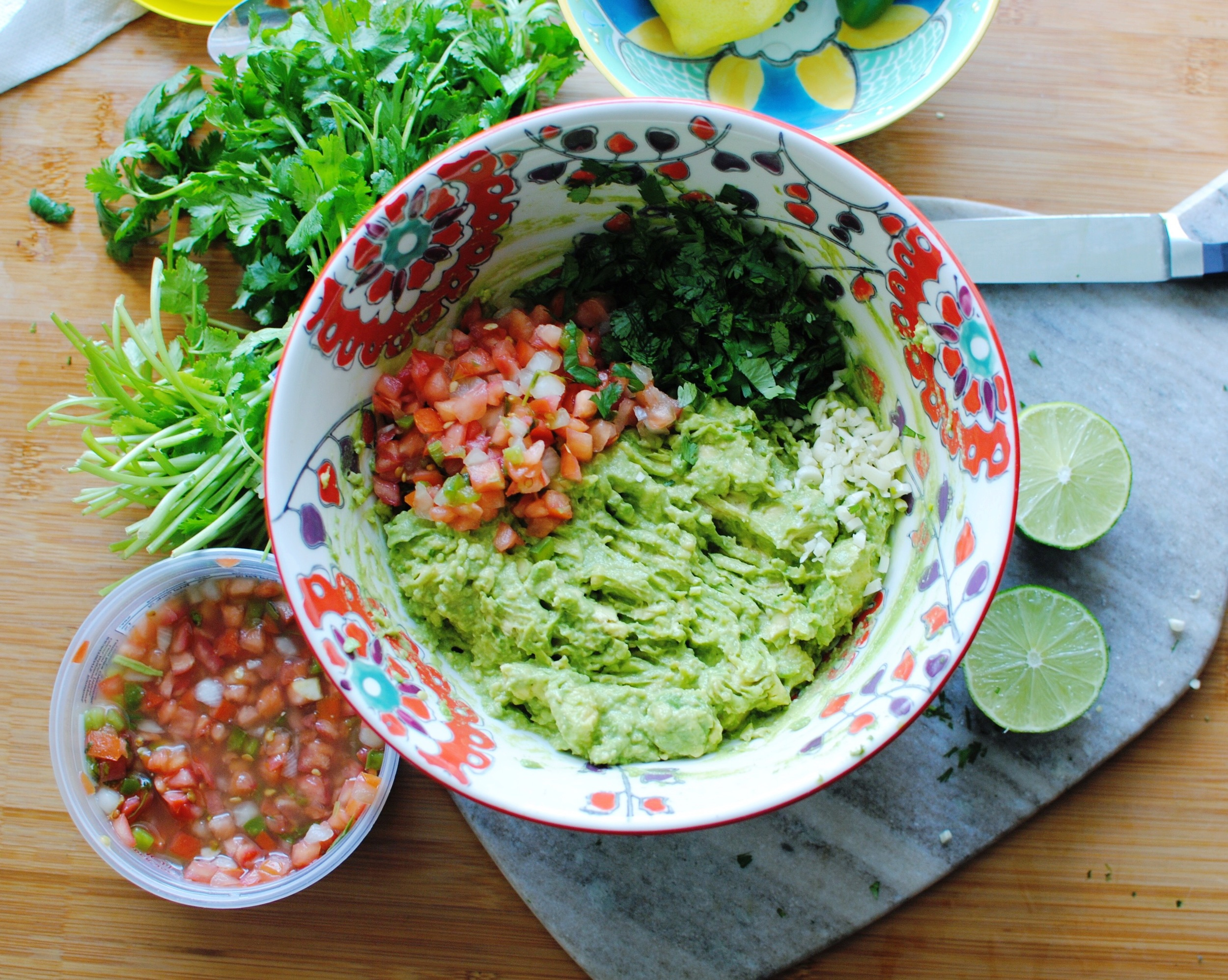 The only thing needed to be chopped was the additional cilantro and garlic cloves!
