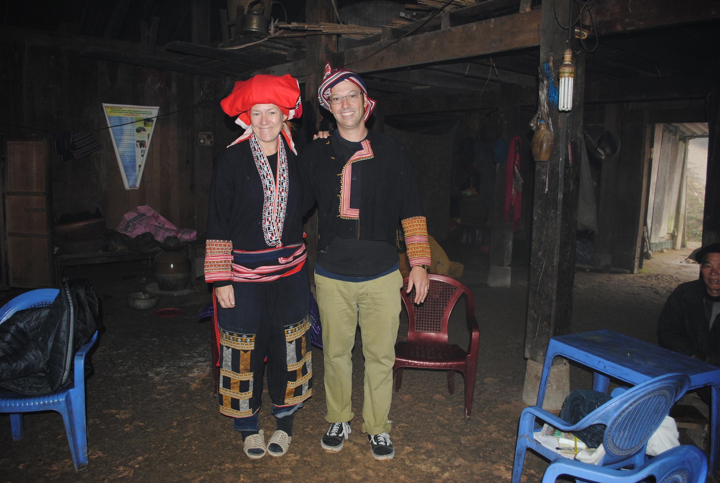 Vietnamese tribal hut fashion show