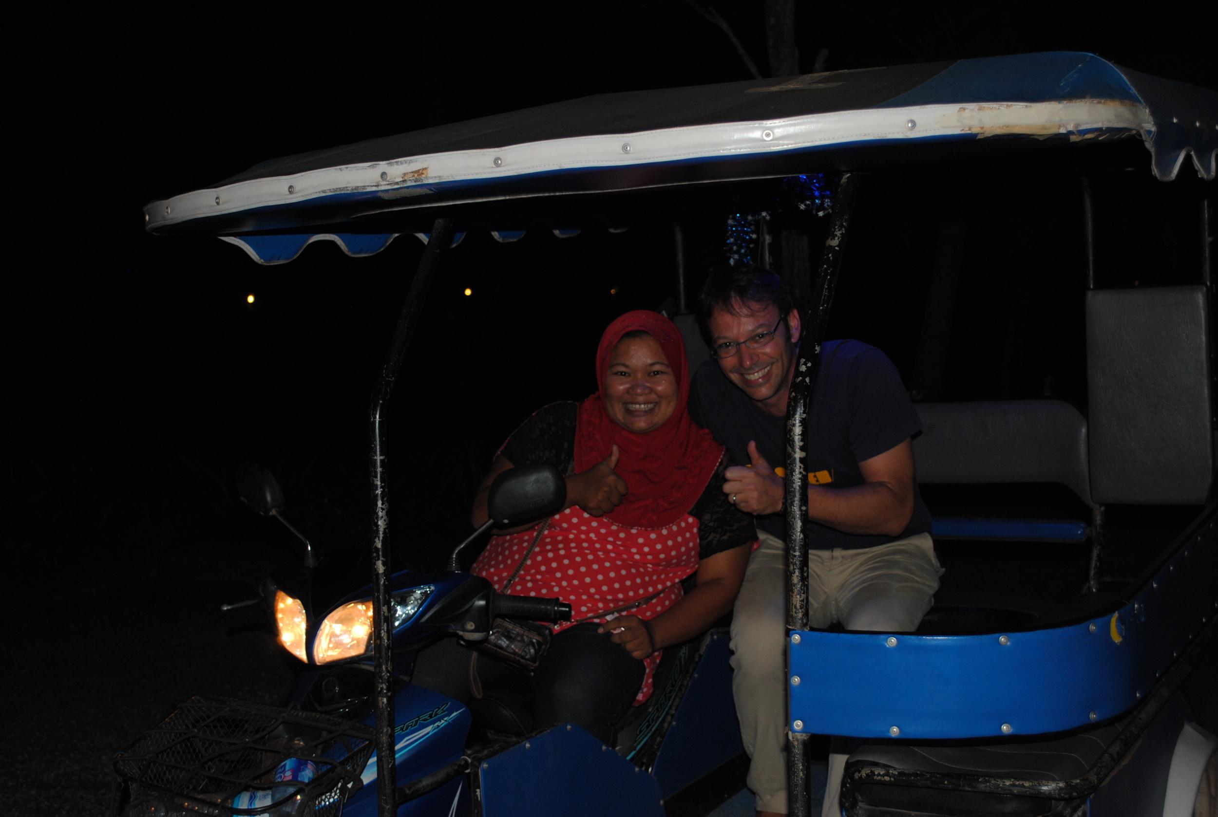 Cool Thai lady tuck tuck  driver