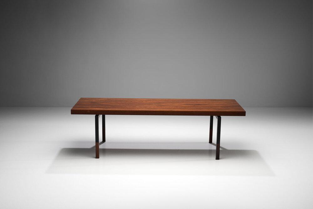 Johannes Aasbjerg Rectangular Rosewood Coffee Table Denmark 1959 H Gallery